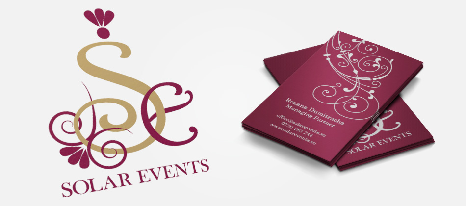 Solar Events logo & business cards