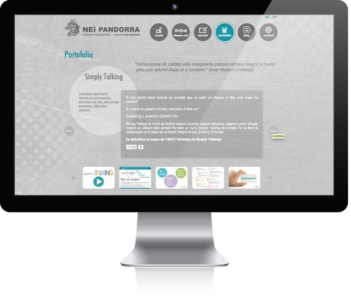 pagina proiect portofoliu
