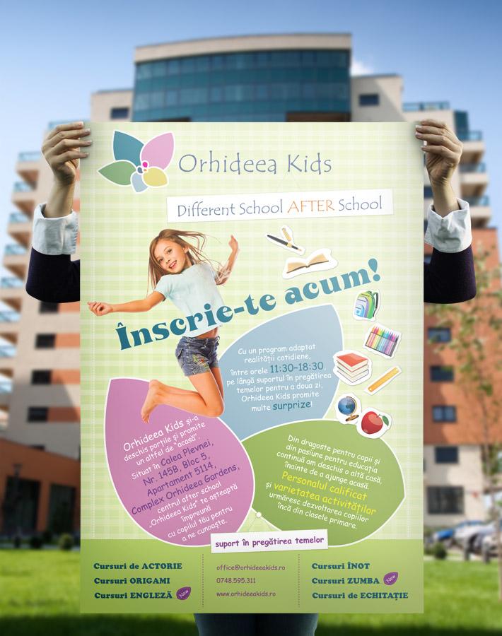 poster design Orhideea Kids