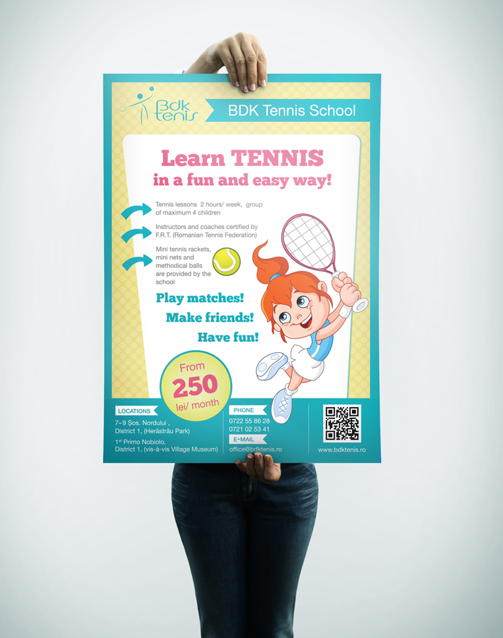 Poster BDK Learn Tennis