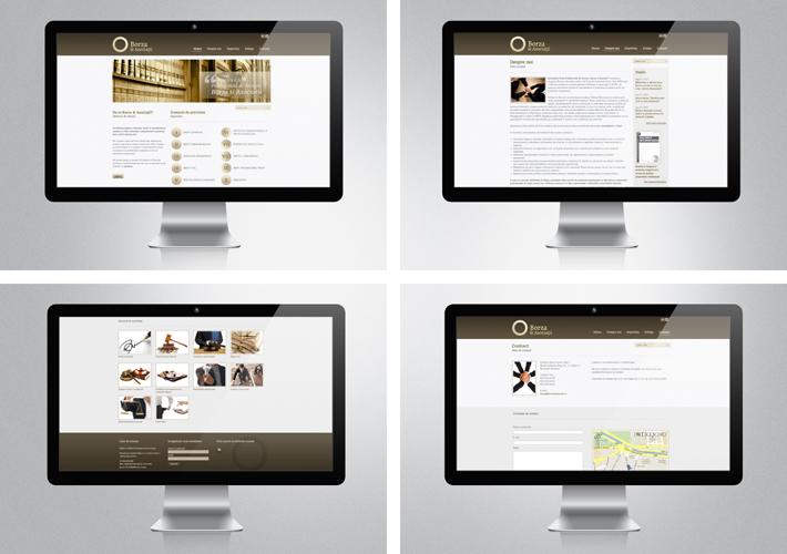 Borza&Asociatii web layout